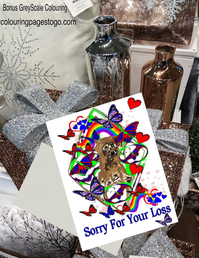 Dog Sympathy Card, Printable Dog Sympathy Card, Dog Condolence Card   Printable Pet Sympathy Cards