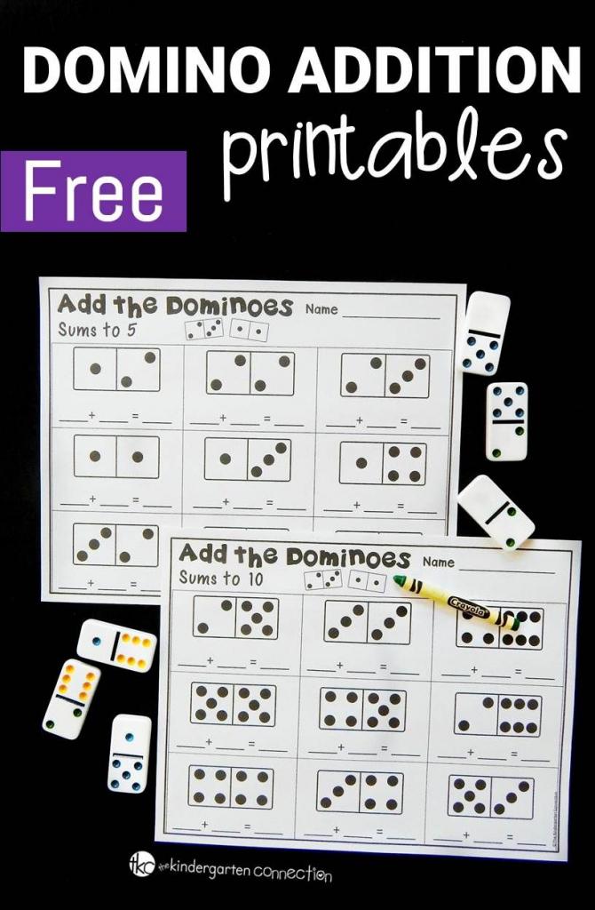 Domino Addition Printables | Classroom | Preschool Math | Printable Domino Cards For Math