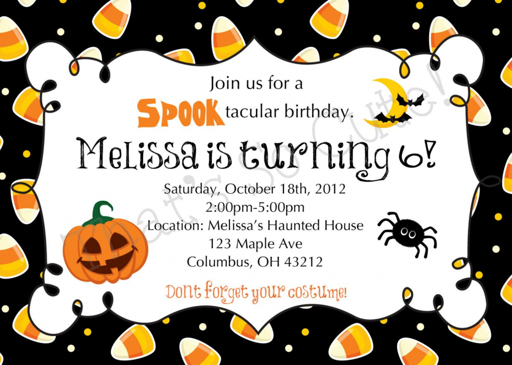 Download Free Template Free Printable Halloween Birthday Party   Printable Halloween Greeting Cards