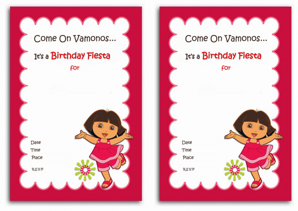 Download Now Free 1St Dora Birthday Invitations Wording | Bagvania | Dora Birthday Cards Free Printable