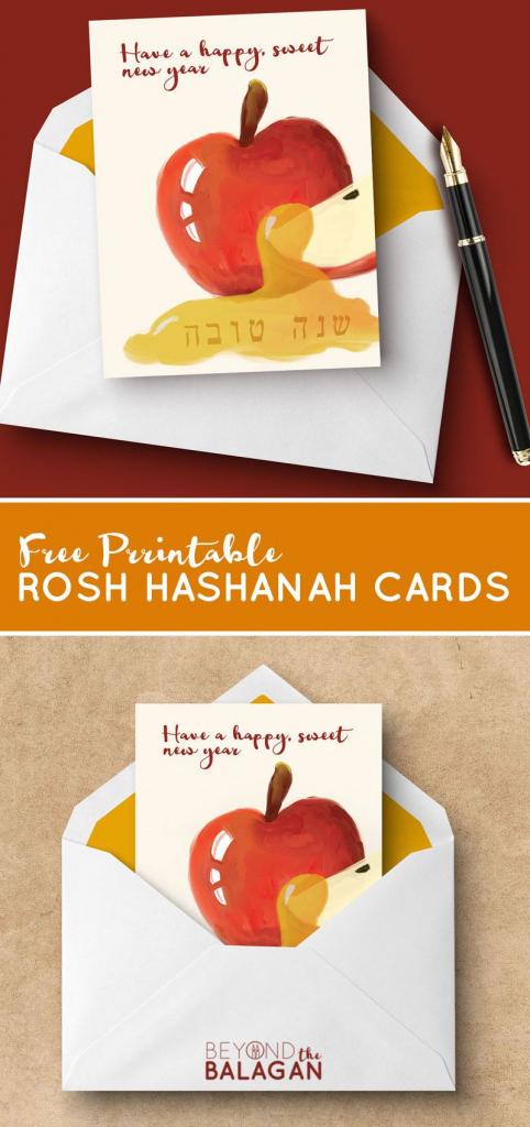 Download These Free Printable Rosh Hashanah Cards - These Fun Free | Rosh Hashanah Greeting Cards Printable