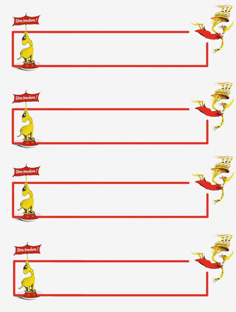 Dr Seuss Thank You Cards – – Free Printable Name And Address Labels | Printable Dr Seuss Thank You Cards