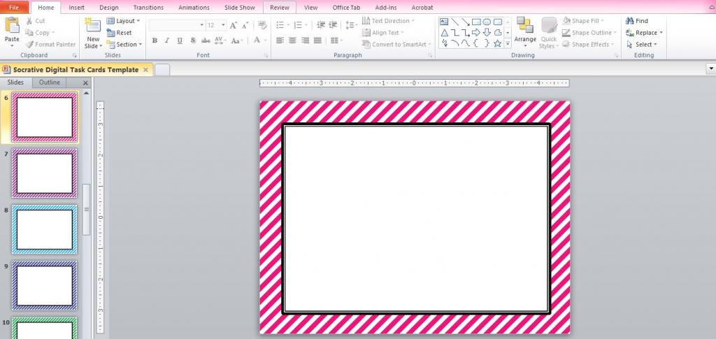 "☆ Rockstar Math Teacher ☆: Socrative 101 - Making ""digital Task Cards"" | Free Printable Blank Task Cards"