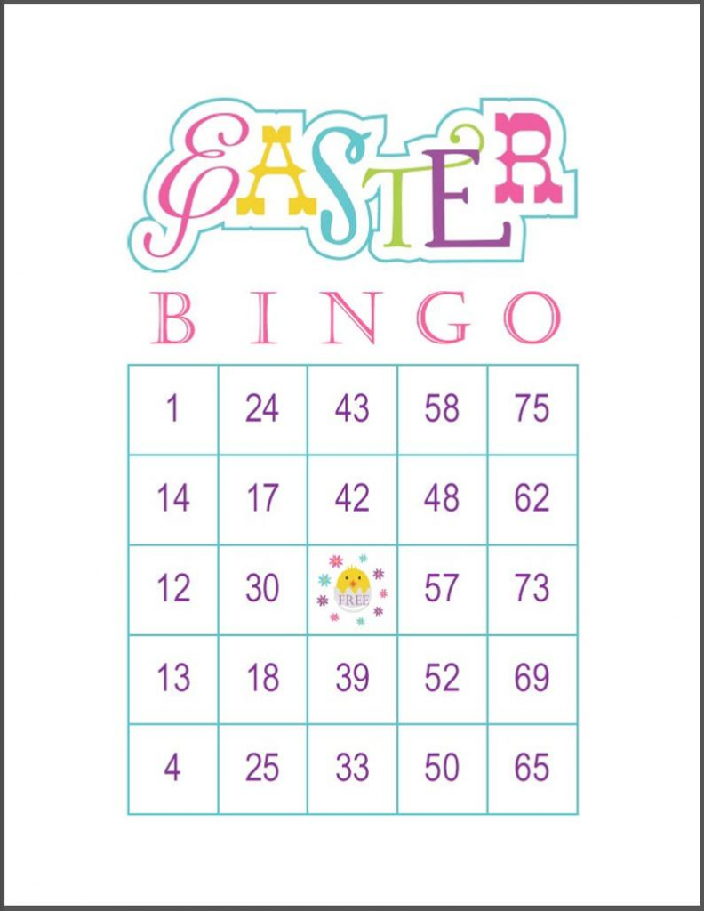 Easter Bingo Game Cards 100 Cards 1 Per Page 75 Call   Etsy   Printable Bingo Cards 1 100