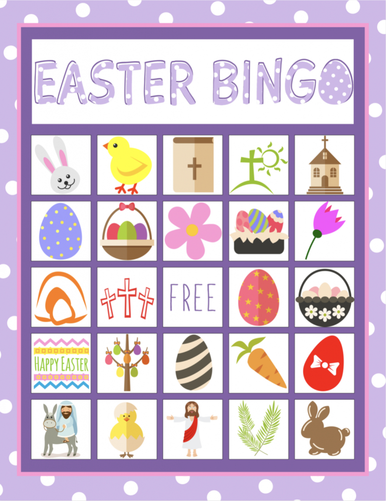 Easter Bingo Game For Kids | Heart Day, Green Day And Bunny Day | Free Printable Religious Easter Bingo Cards