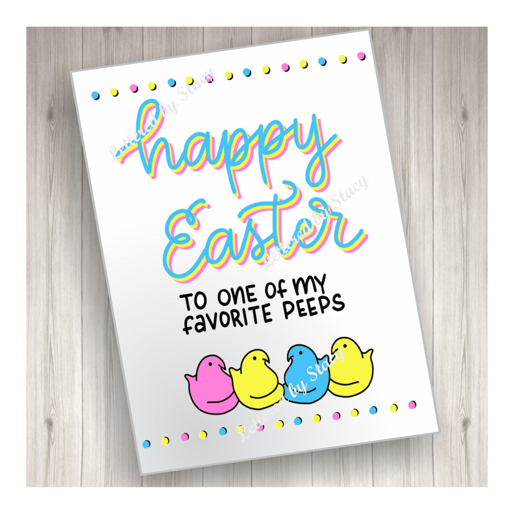Easter Card Happy Easter To One Of My Favorite Peeps   Etsy   Printable Greek Easter Cards