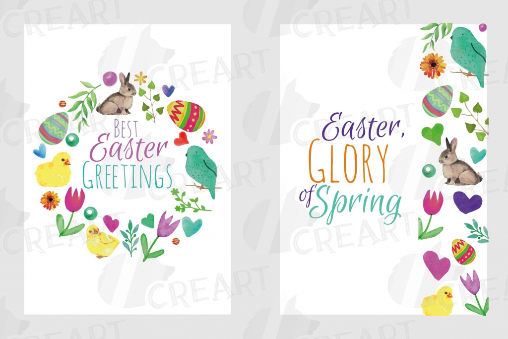 Easter Greeting Cards 6 Happy Easter Cards Colorful Cards | Etsy | Happy Easter Greeting Cards Printable