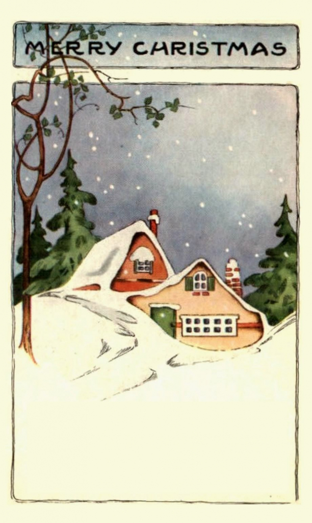 Easy Christmas Postcards | 20Th/21St Century Christmas Images + | Printable Vintage Christmas Cards