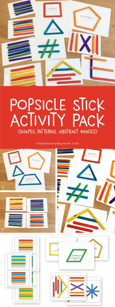 Easy Prep Popsicle Stick Projects For Young Children | Popsicle Stick Pattern Cards Printable