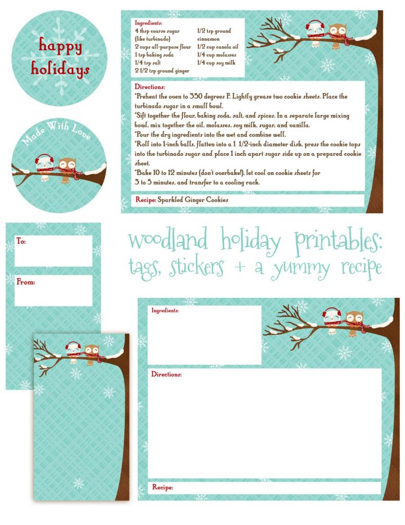 Editable Christmas Recipe Card Template   Printable Christmas Recipe   Printable Recipe Cards For Christmas