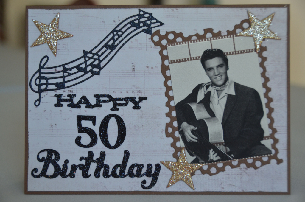 Elvis Presley 'happy 50Th Birthday' Card   Craftyshell's Cards   Elvis Birthday Cards Printable