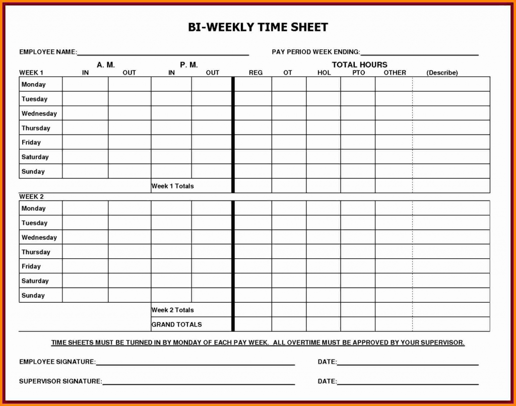 Employee Time Cards Template Free Awesome 5 Printable Payroll Sheets | Free Printable Time Cards