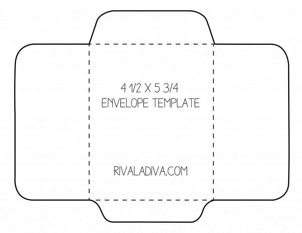 Envelope Template | Envelope Template For 8.5 X 11 Paper Diy | Free Printable Greeting Card Envelope Template