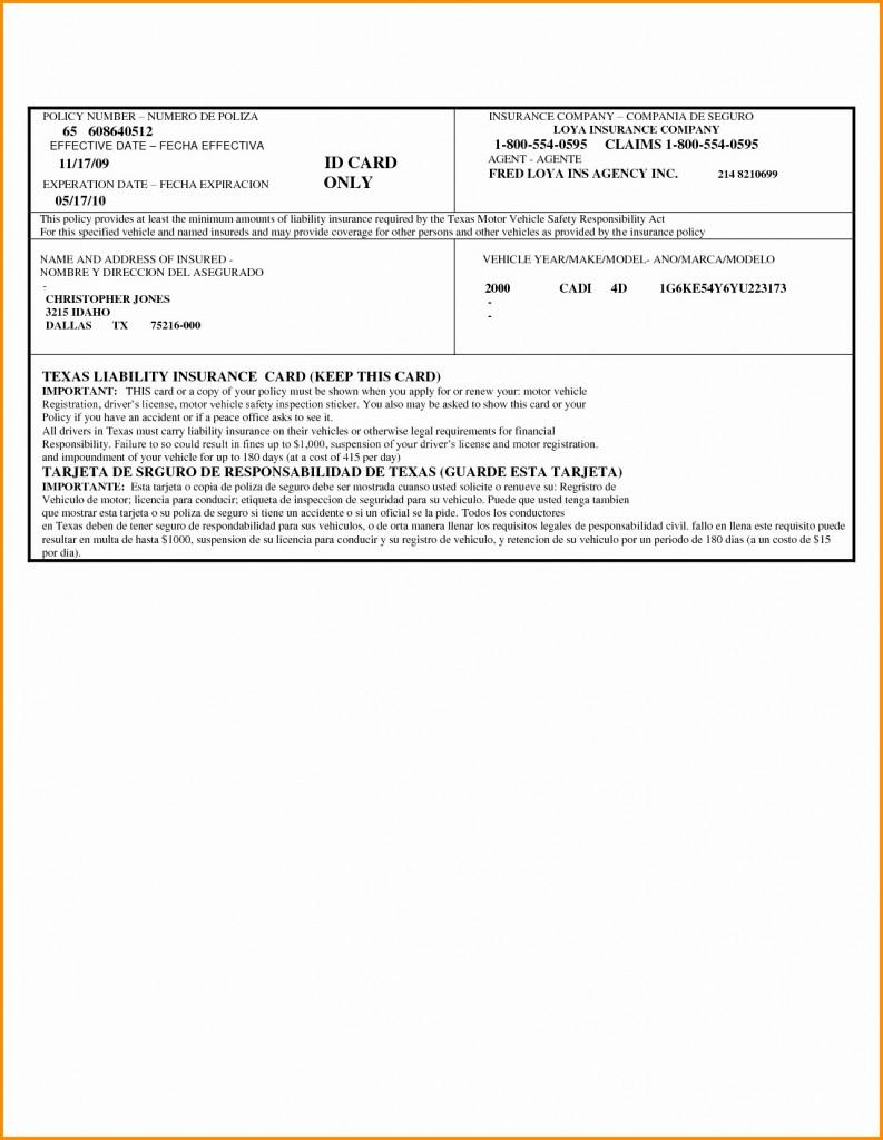 Fake Car Insurance Card Template Free Fresh How To Make Auto | Printable Fake Car Insurance Cards