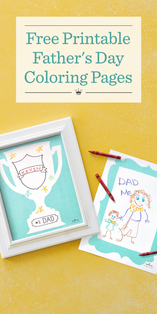 Father's Day Coloring Pages | Hallmark Ideas & Inspiration | Hallmark Free Printable Fathers Day Cards