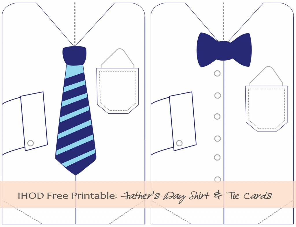 Father's Day Tie Printables | In Honor Of Design: Diy: Free | Father's Day Tie Card Printable
