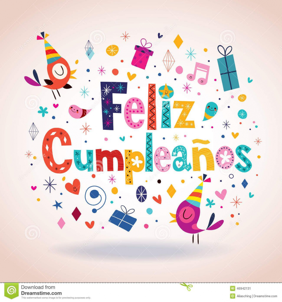 Feliz Cumpleanos - Happy Birthday In Spanish Card - Download From | Free Printable Happy Birthday Cards In Spanish