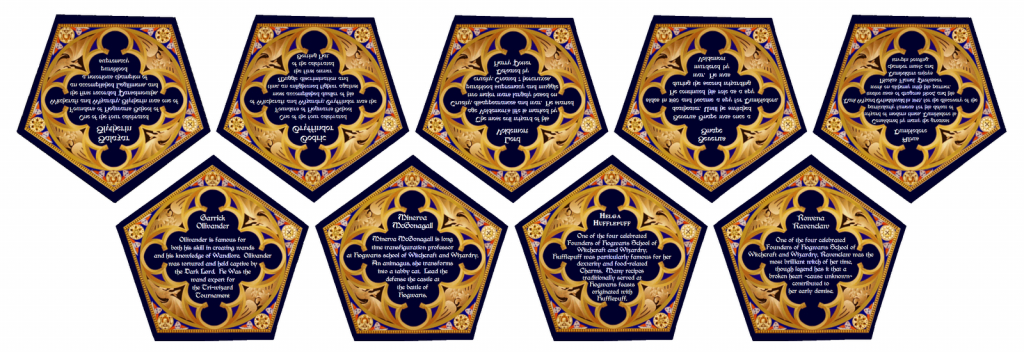 File:harry Potter - Candy - Chocolate Frog Cards - Back   Harry Potter Chocolate Frog Cards Printable