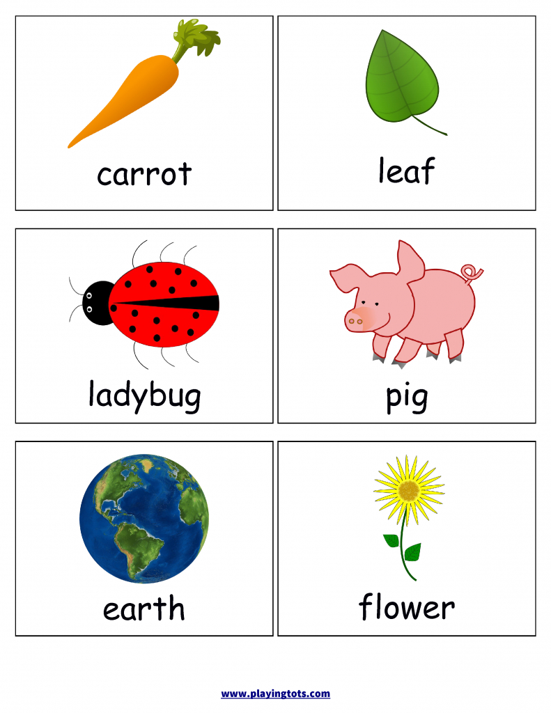 First Words Flash Cards For Your Toddler Keywords: Picture,cards   Free Printable Rhyming Words Flash Cards