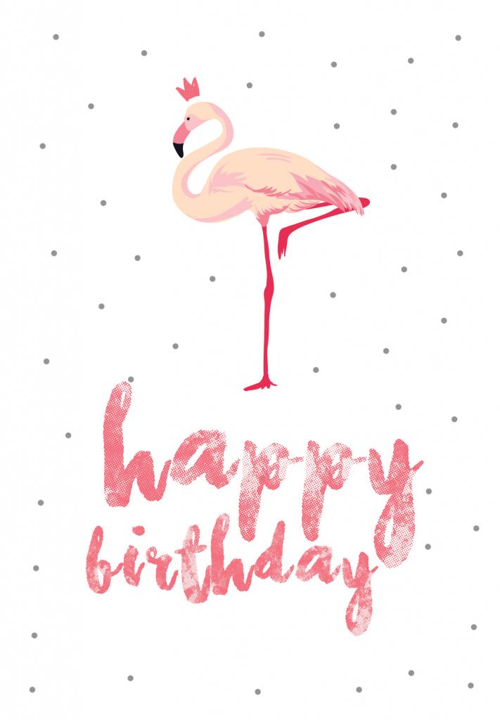 Flamingo Birthday - Free Printable Birthday Card | Greetings Island | Free Printable Birthday Cards For Her