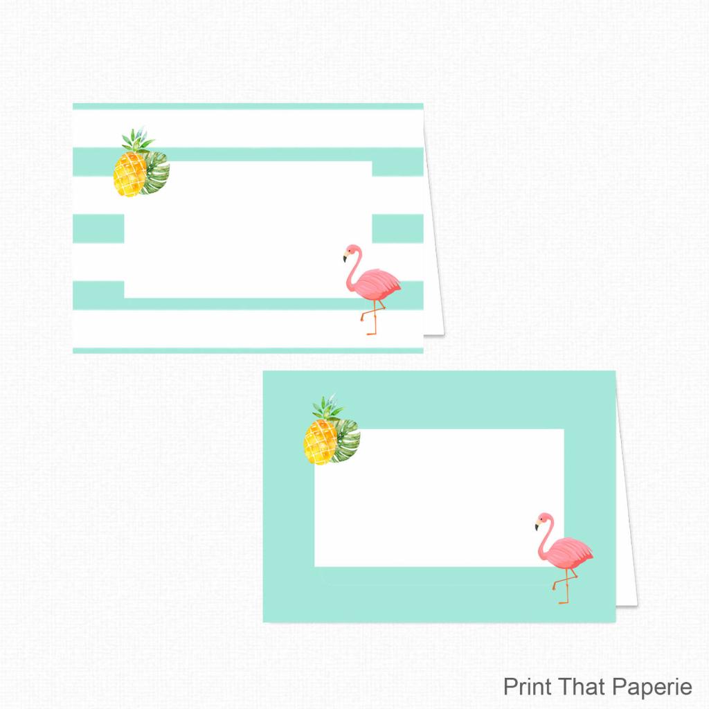 Flamingo Food Tent Labels Flamingo Food Tents Printable | Etsy | Free Printable Food Tent Cards