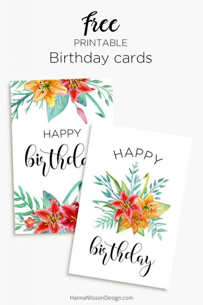 Floral Birthday Cards   Free Birthday Card Printables   Birthday   Printable Birthday Cards For Mom Funny