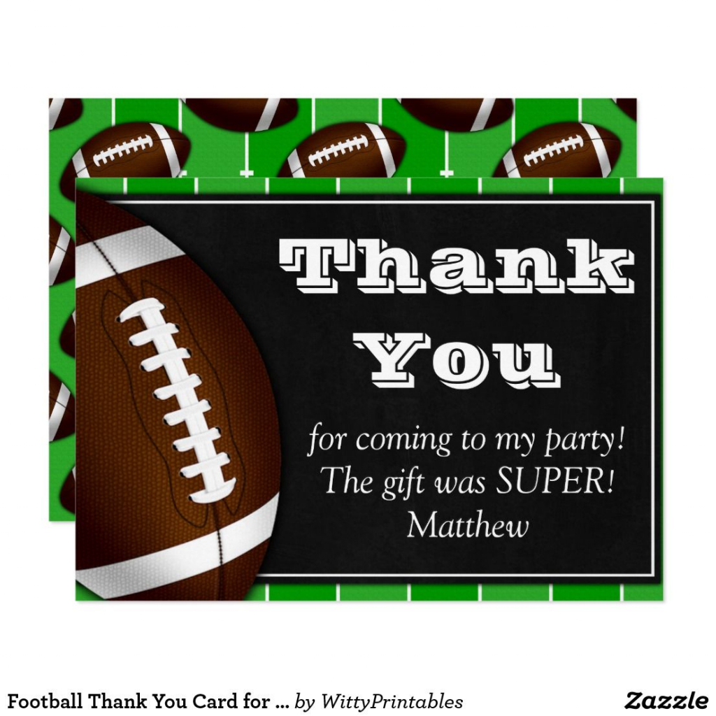Football Thank You Card For Football Fans | Cool Stuff | Football Thank You Cards Printable
