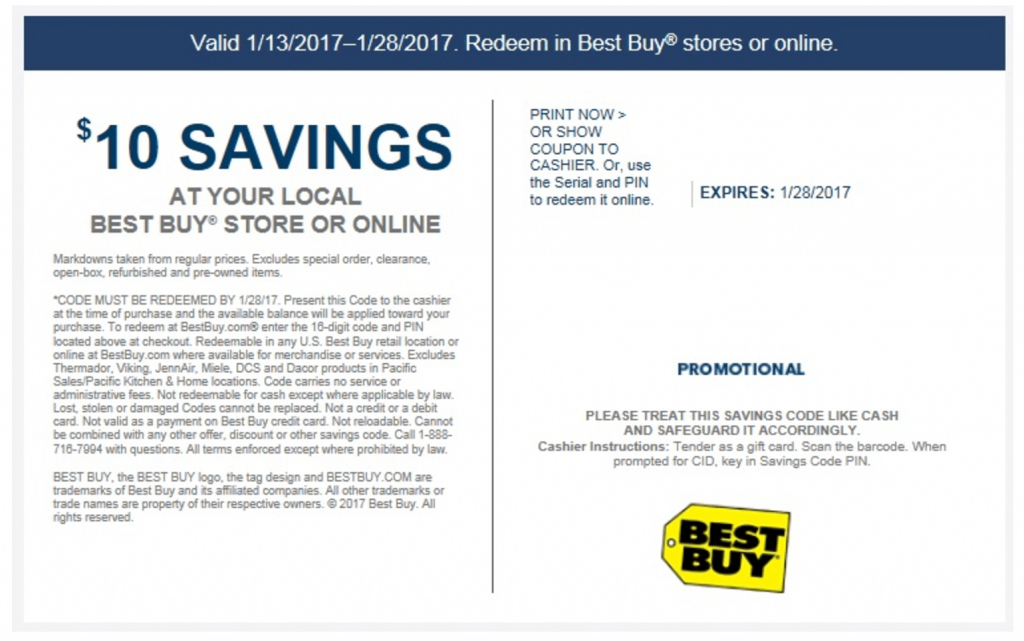Free $10 At Best Buy - Check Your Emails - Doctor Of Credit   Best Buy Printable Gift Card