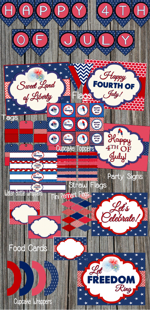 Free 4Th Of July Party Printablesdesignsserendipity | Catch | Happy 4Th Of July Cards Printable
