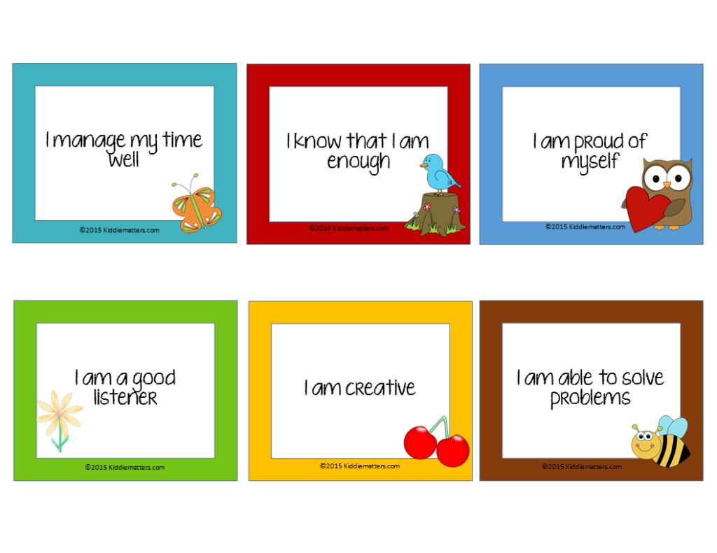 Free Affirmation Cards For Kids! - Kiddie Matters   Free Printable Positive Affirmation Cards