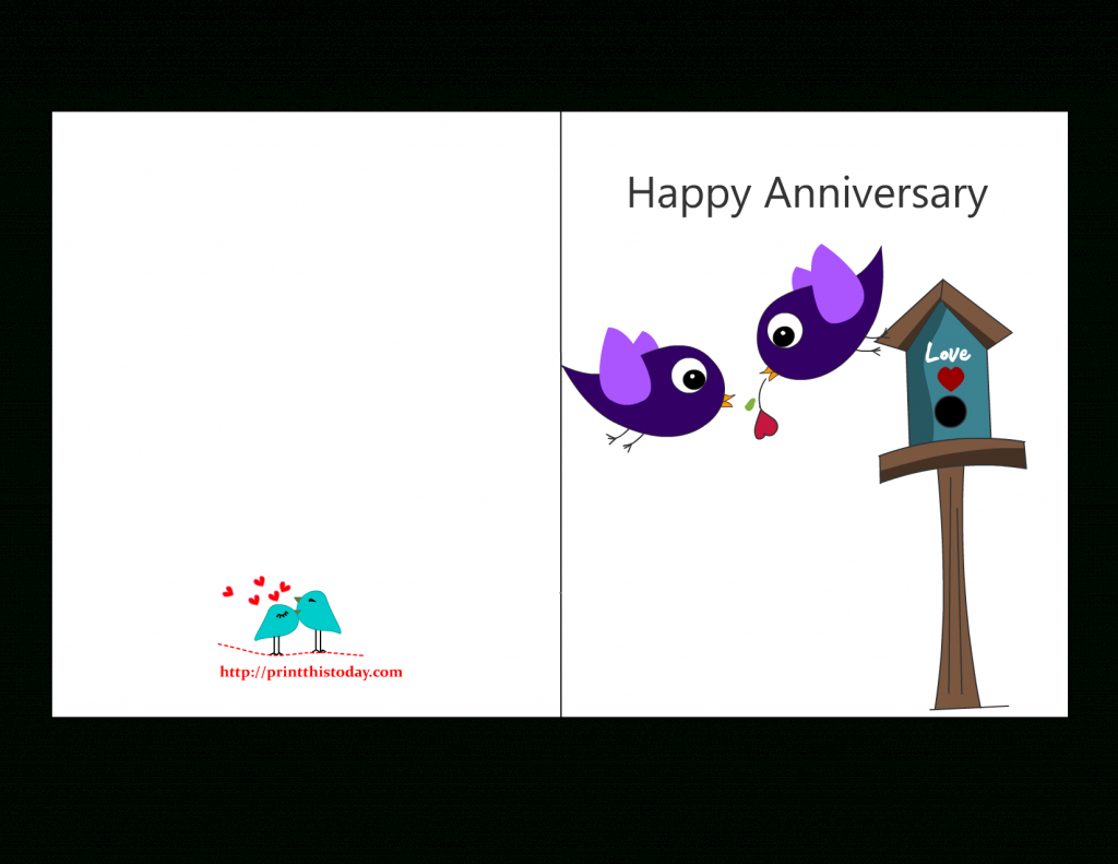 Free Anniversary Cards To Print | Free Printable Anniversary Cards | Anniversary Cards Printable For Parents