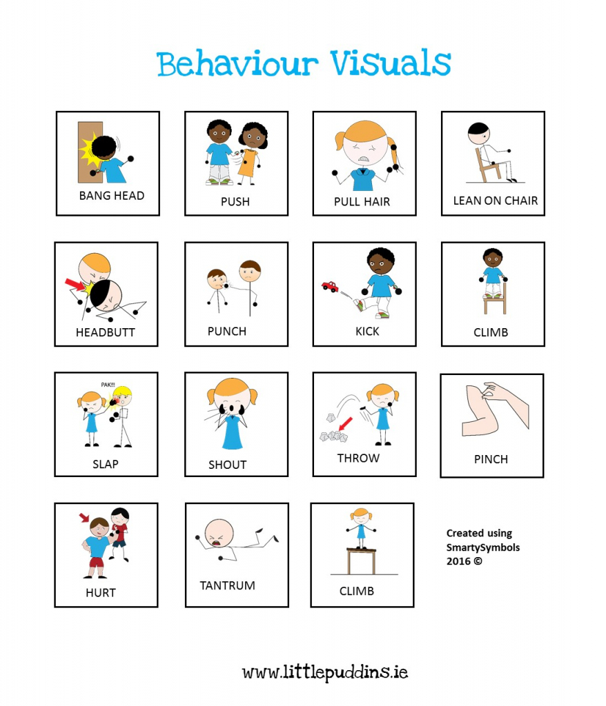 Free Behavior Printable – Little Puddins Free Printables   Picture Cards For Autism Printable