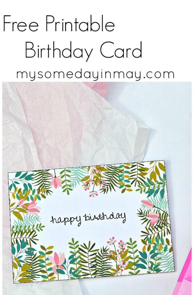 Free Birthday Card | Birthday Ideas | Free Printable Birthday Cards | Free Printable Greeting Cards