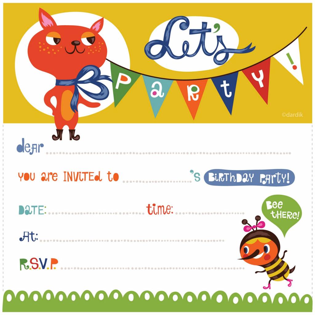 Free Birthday Invitation Cards For Kids - Under.bergdorfbib.co | Free Printable Kids Birthday Cards Boys