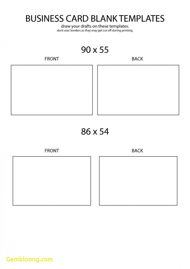 Free Blank Business Card Template Front And Back Design | Business | Free Printable Blank Business Cards