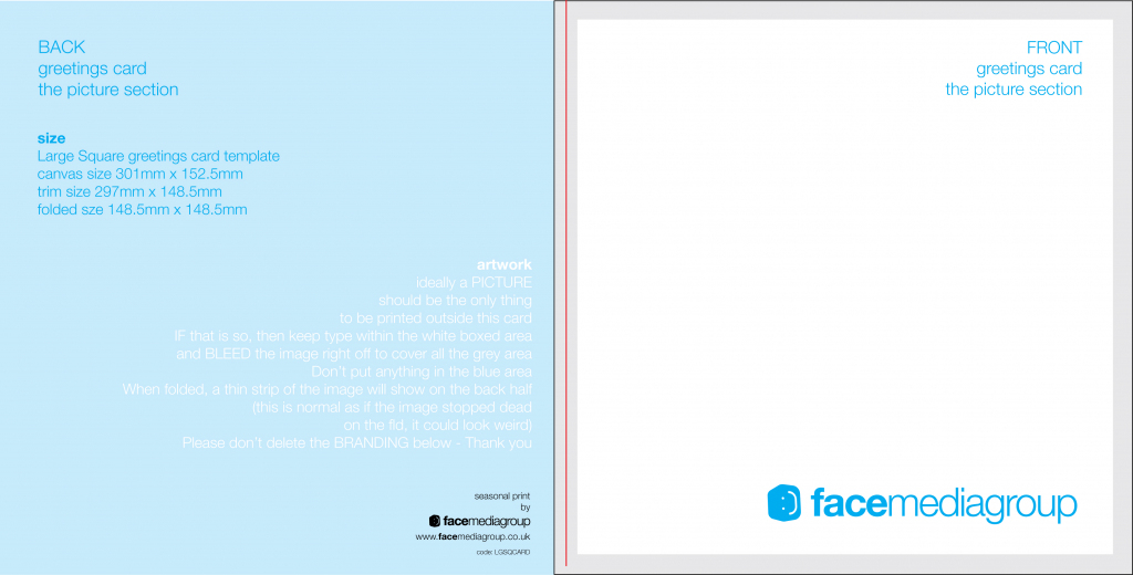 Free Blank Greetings Card Artwork Templates For Download | Face | Free Printable Blank Greeting Card Templates