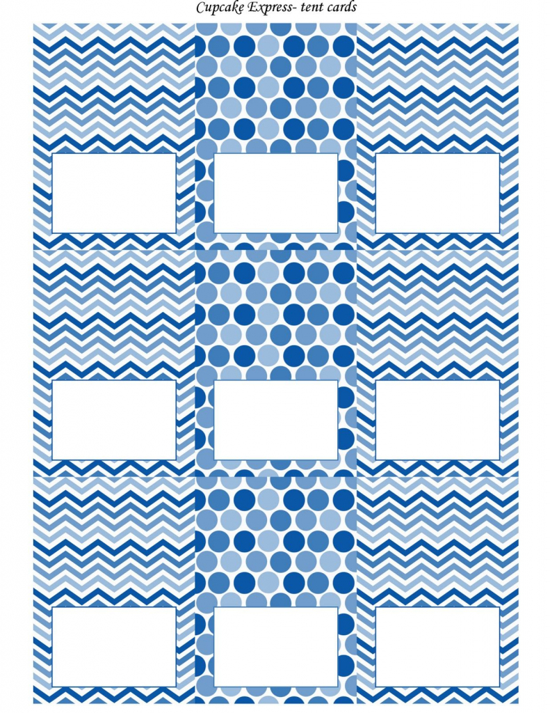 Free Blue And White Printable Tent Cards | Free Printables | Free Printable Food Tent Cards