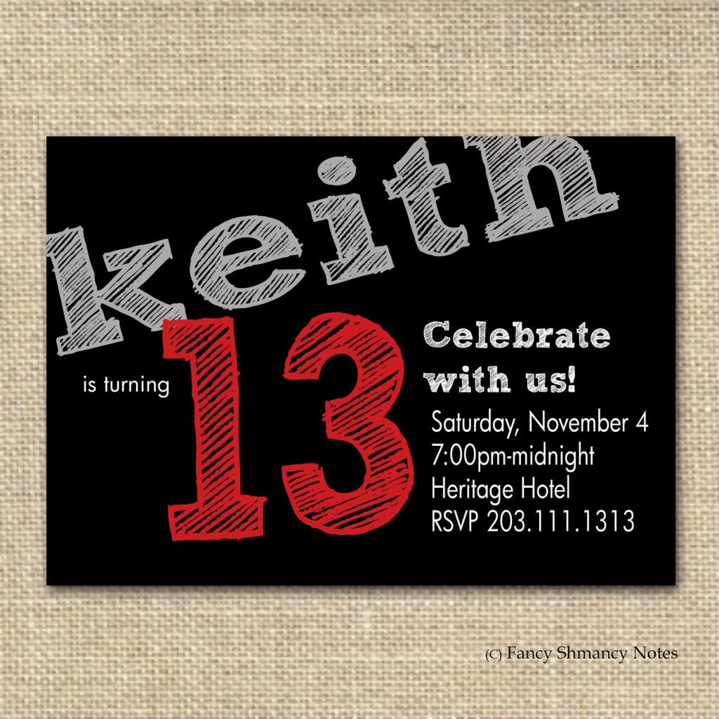 Free Boys Birthday Invitation Templates | Teen Boy's Birthday | Printable Birthday Cards For Teenage Guys
