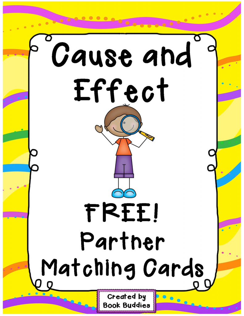 Free Cause And Effect Matching Partner Cards With Thanks From Book | Free Printable Cause And Effect Picture Cards