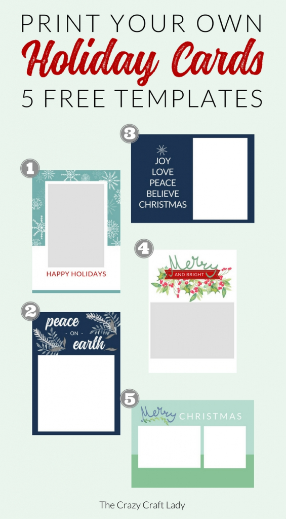 Free Christmas Card Templates - The Crazy Craft Lady | Christmas Cards Download Free Printable