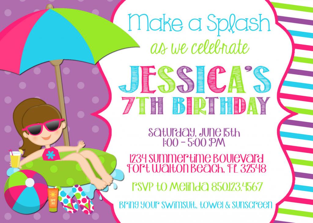 Free Custom Printable Birthday Cards — Birthday Invitation Examples | 7Th Birthday Card Printable