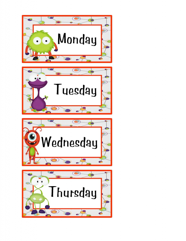 Free Days Of The Week Worksheets   Activity Shelter   Free Printable Days Of The Week Cards
