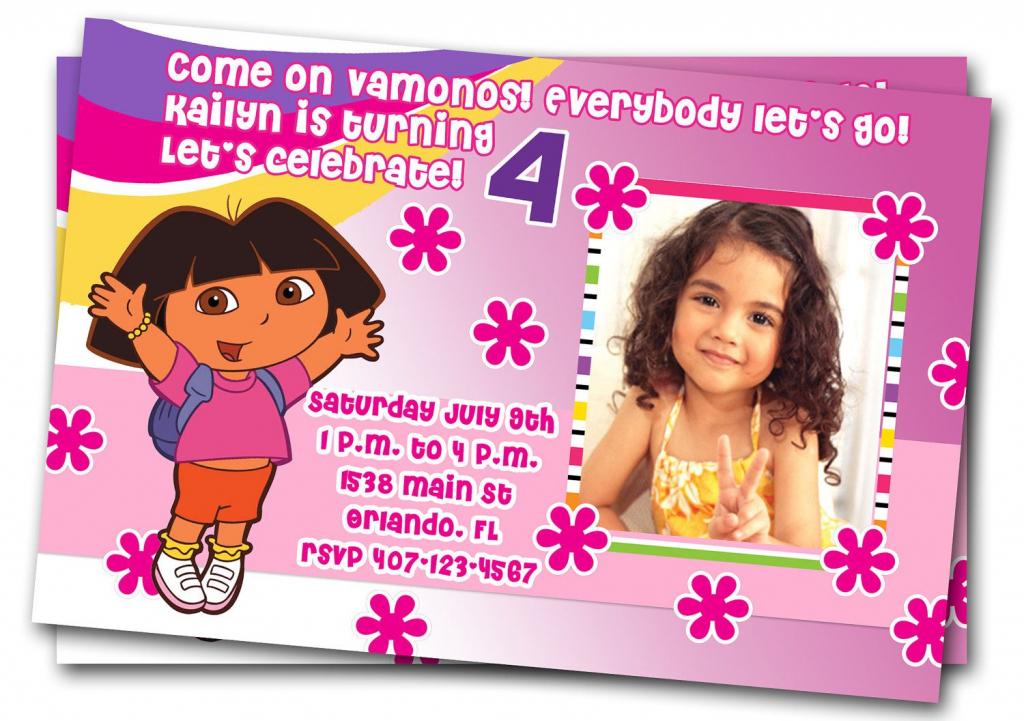"Free Dora Birthday Card Invitations €"" Birthday Card Ideas | Diy | Dora Birthday Cards Free Printable"
