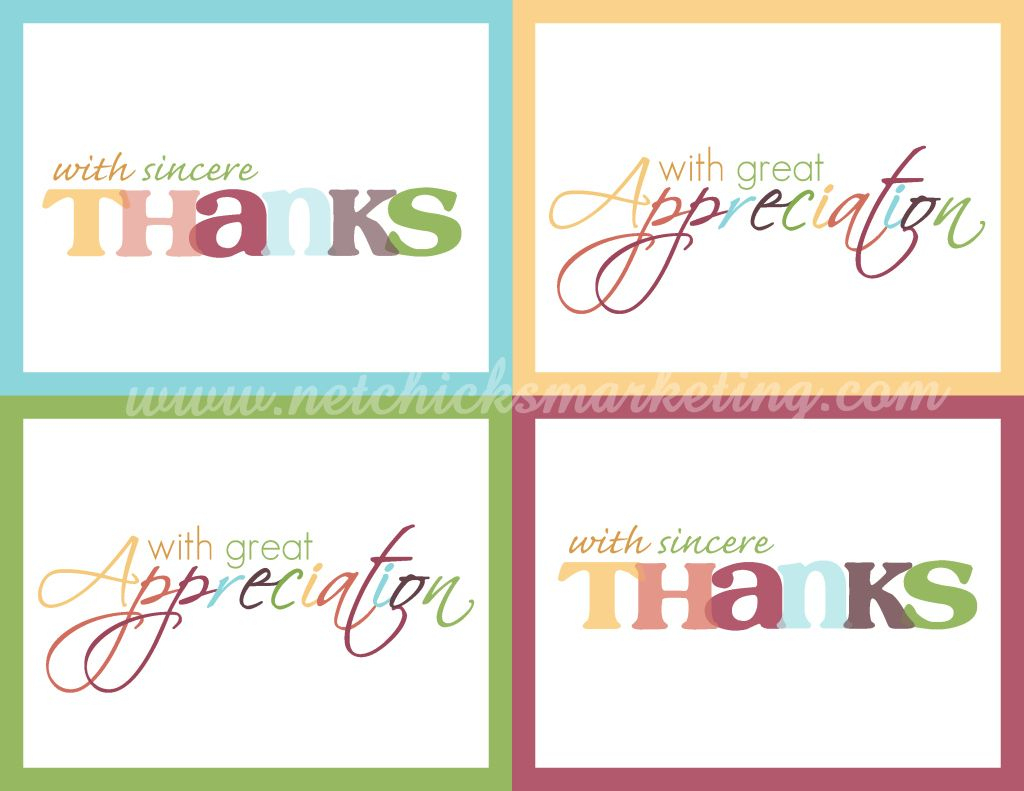 Free Download: Practice Thankfulness Postcards - Very Cute Set Of   Free Printable Custom Thank You Cards