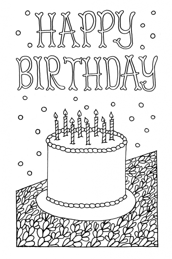 Free Downloadable Adult Coloring Greeting Cards   Diy Gifts   Printable Coloring Birthday Cards
