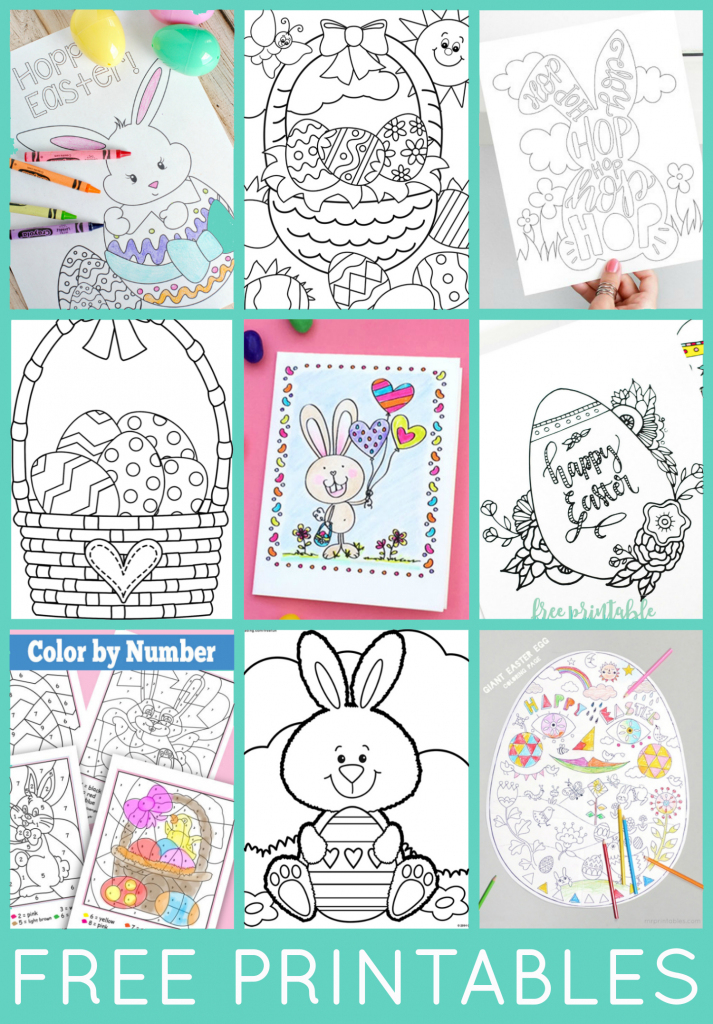 Free Easter Coloring Pages - Happiness Is Homemade   Free Printable Easter Cards To Print
