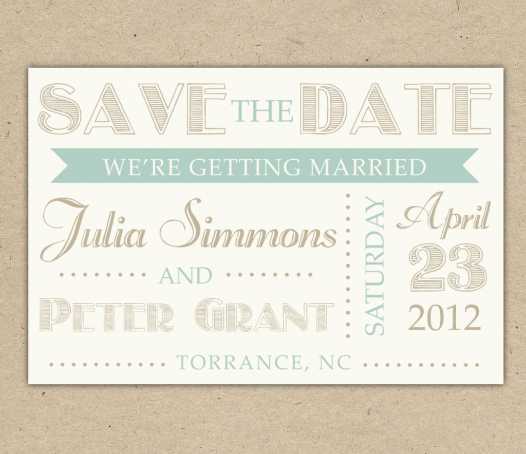 Free Electronic Save The Date Templates - Kleo.bergdorfbib.co | Printable Save The Date Birthday Cards