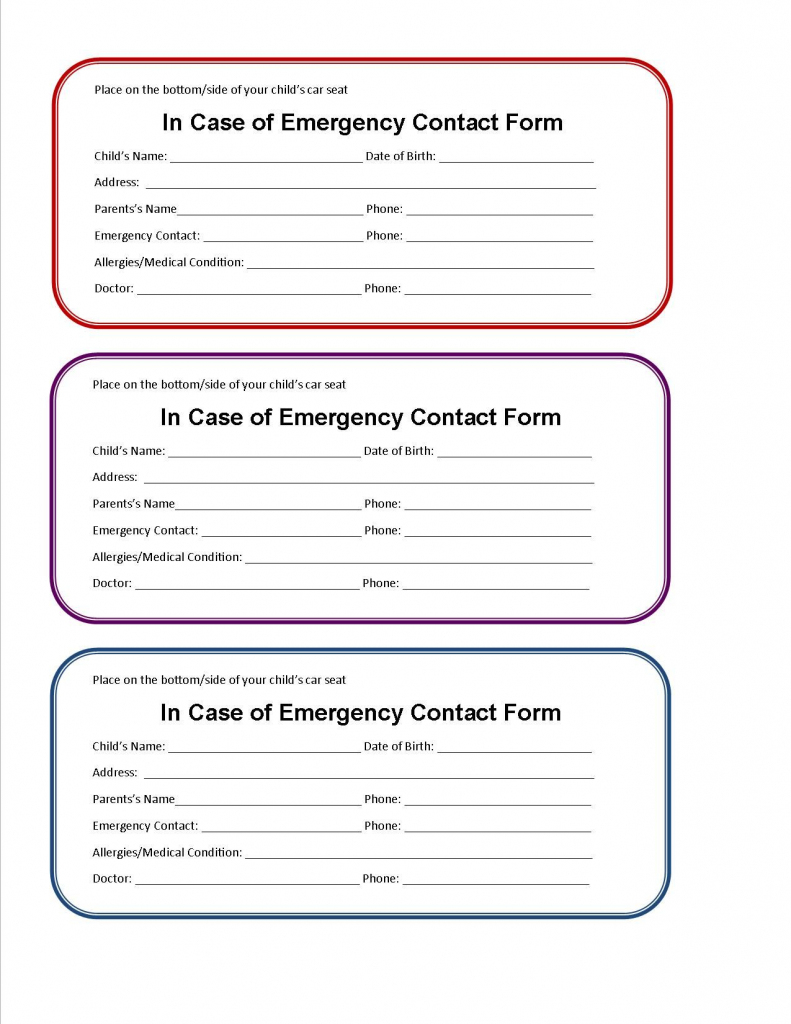 Free Emergency Contact Card Template - Kleo.bergdorfbib.co | Free Printable Id Cards Templates