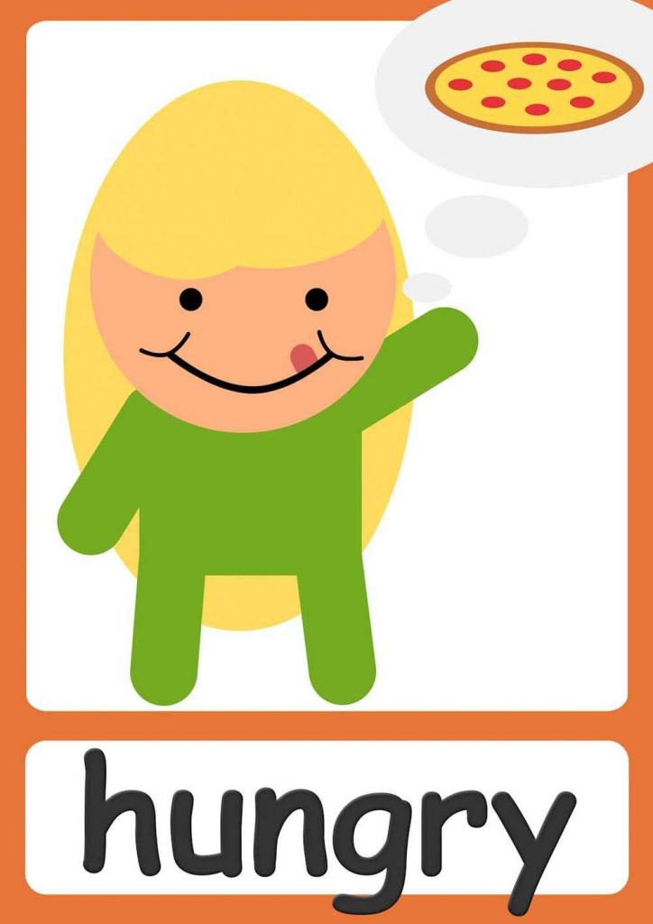 Free Feelings Flashcards For Kindergarten & Preschool! Learn | Printable Picture Cards For Kindergarten