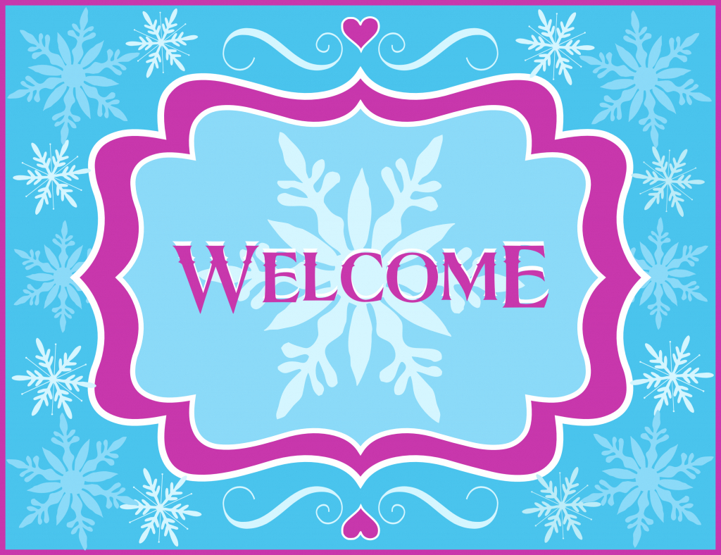 Free Frozen Party Printables From Printabelle | Catch My Party | Free Printable Welcome Cards